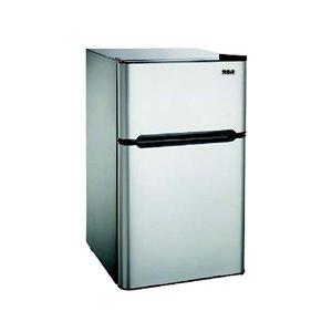 RCA 4.5 cu ft Freestanding 2-Door Fridge with Freezer Compartment - Stainless Steel