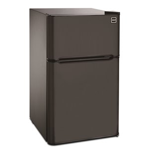 RCA 3.2 cu ft Freestanding 2-Door Fridge with Top Freezerr - Black