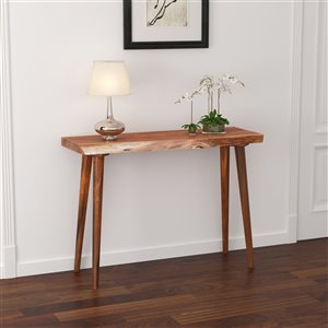 !nspire Mid-Century Console Table - 13-in x 30-in - Walnut