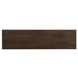 WHI Modern Console Table - 11.75-in x 30-in - Black Metal and Walnut Wood Veneer