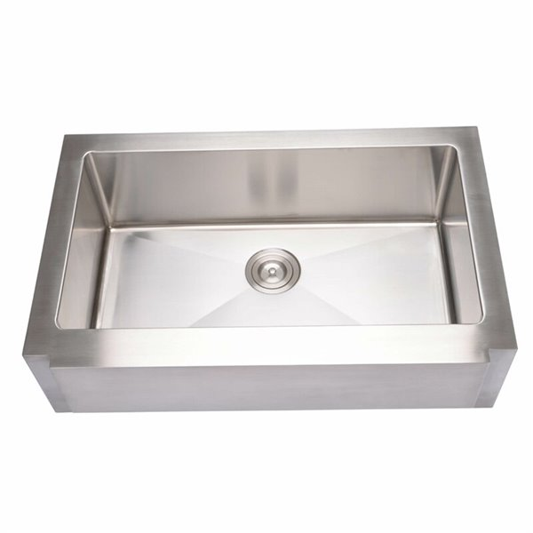 Hahn Farmhouse Kitchen Sink Single Bowl 33 In Stainless Steel Lowe S Canada
