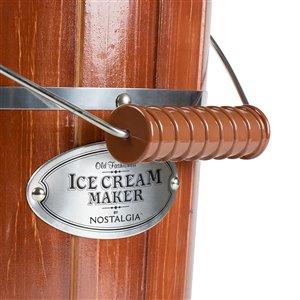 Nostalgia 6-Quart Wood Bucket Ice Cream Maker