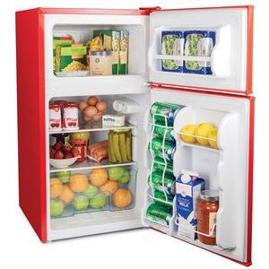 Igloo Classic Compact Red Double Door Refrigerator - 3.2-cu ft