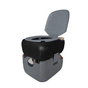 Reliance Flush N Go Electric Portable Toilet - 12-L - Gray/Black