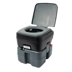 Reliance Flush N Go Portable Toilet - 12-L - Gray/Black