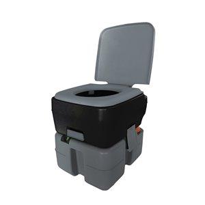 Reliance Flush N Go Portable Toilet 3320 - 10-L - Gray/Black