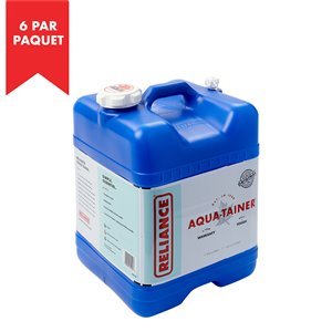 Reliance Aqua-Tainer 7-gal. Water Container - High-Density Polyethylene - 6/Pack