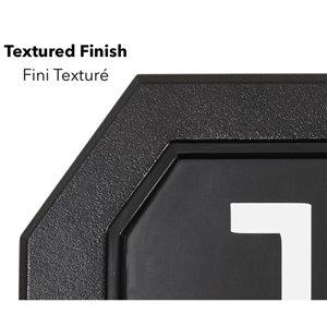 PRO-DF Economic Address Plaque Kit - 5-in x 12-in - Black and White Plastic