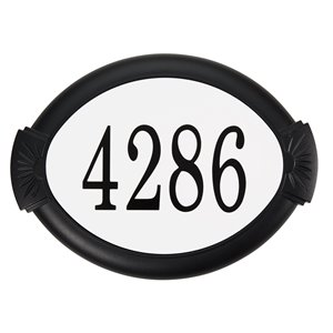 PRO-DF Classic Address Plaque Kit - 10.37-in x 14-in - Black Aluminum