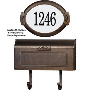 PRO-DF Classic Address Plaque Kit - 10.37-in x 14-in - Antique Bronze Aluminum