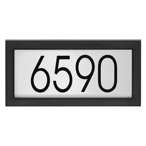 PRO-DF Contemporary Address Plaque Kit - 7-in x 14-in - Black and Stainless Steel