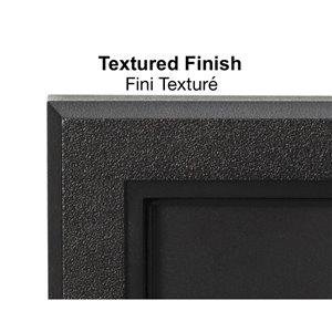 PRO-DF Modern Rectangular Address Plaque Kit - 7-in x 14-in - Black and White Plastic
