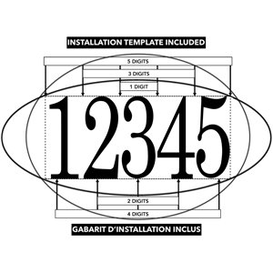 PRO-DF Contemporary Address Plaque Kit - 7.75-in x 15-in - Black and Stainless Steel