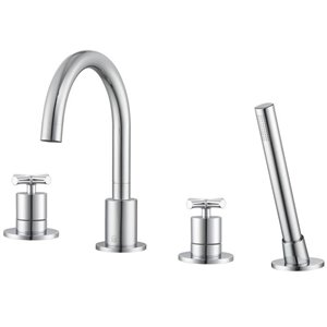 Ancona Ava Two-Handle Roman Tub Faucet - Chrome