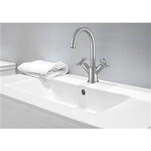 Ancona Ava Series Single-Hole Cross-Handle Bathroom Faucet - Brushed Nickel