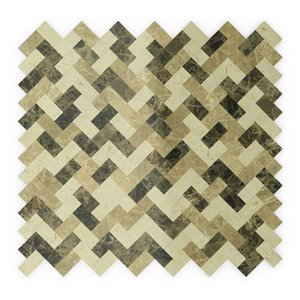 SpeedTiles Trail Natural Stone Peel and Stick Wall Tile - Herringbone Pattern - 12.09-in x 11.65-in - Beige and Brown