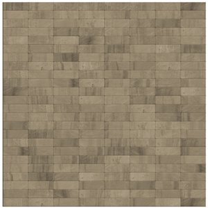 SpeedTiles Grizzly Natural Stone Peel and Stick Wall Tile - Linear Pattern - 11.42-in x 11.57-in - Grey/Beige