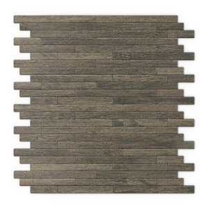 SpeedTiles Woody Metal Peel and Stick Wall Tile - Linear Pattern - 12.09-in x 11.97-in - Natural Wood Effect