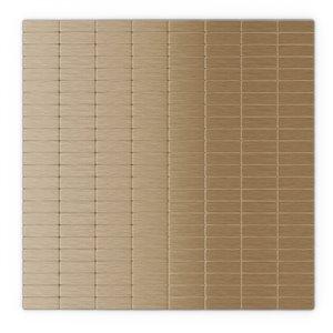 SpeedTiles Urbain Metal Peel and Stick Wall Tile - Linear Pattern - 11.42-in x 11.57-in - Light Copper