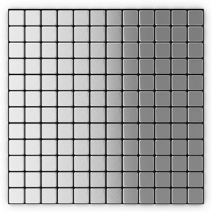 SpeedTiles Silver Metal Peel and Stick Wall Tile - Uniform squares Pattern - 12.2-in x 12.2-in - Stainless Steel