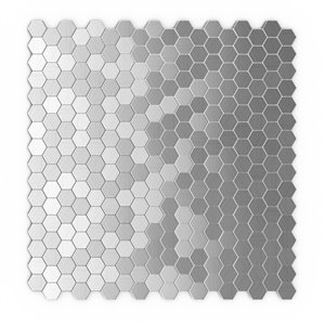 SpeedTiles Hexagonia Metal Peel and Stick Wall Tile - Honeycomb Pattern - 11.46-in x 11.89-in - Stainless Steel