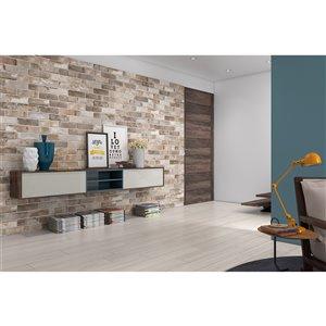 Mono Serra Porcelain Tile 3-in x 10-in Brick Road Maple Street 8.88 sq. ft. / case