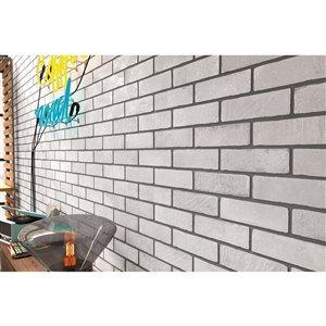 Mono Serra Porcelain Tile 3-in x 10-in Brick Road Bourbon Street 8.88 sq. ft. / case