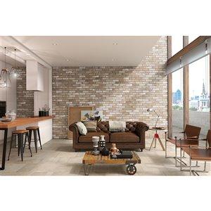 Mono Serra Porcelain Tile 3-in x 10-in Brick Road Lombard Street 8.88 sq. ft. / case