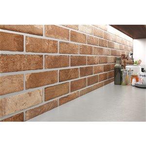 Mono Serra Porcelain Tile 3-in x 10-in Brick Road Old Street 8.88 sq. ft. / case
