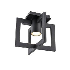 DVI Astrid Outdoor Flush-Mount Light - 2-Light - 9.75-in - Black and Brown