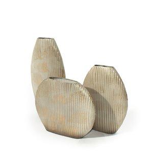 Gild Design House Nelda Metal Table Vase Antique Gold - Set of 3