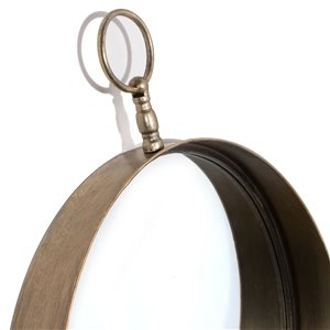 Gild Design House Macklin Metal Wall Mirror Round - Antique Gold - 24-in x 18-in