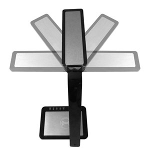 Royal Sovereign Multi-Angle LED Desk Lamp with Wireless Charger - Black