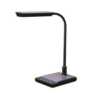 Royal Sovereign Goose Neck LED Desk Lamp with USB - Black