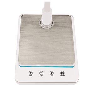 Royal Sovereign Goose Neck LED Desk Lamp with USB - White