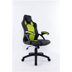 Brassex Ergonomic High-Back Executive Office Chair Black/Green