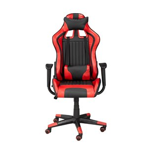 Brassex Avion Gaming Chair with Tilt and Recline Black/Red