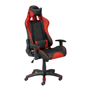 Brassex Sorrento Gaming Chair with Tilt and Recline Black/Red