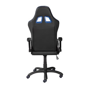 Brassex Fresno Gaming Chair with Tilt and Recline Black and Blue