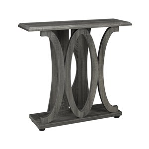 Brassex Contemporary Console Table in Grey - 26-in x 33.5-in