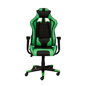 Brassex Avion Gaming Chair with Tilt and Recline Black/Green