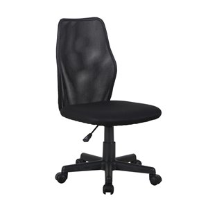 Brassex Contemporary Office Chair Black with Wheels