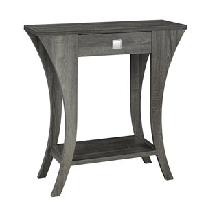 Brassex Console Table with Storage in Grey Finish - 31.5-in x 33.5-in