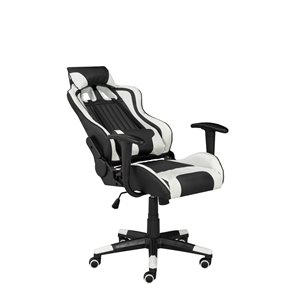 Brassex Avion Gaming Chair with Tilt and Recline Black/White