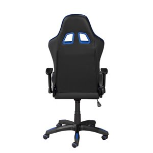 Brassex Sorrento Gaming Chair with Tilt and Recline Black/Blue