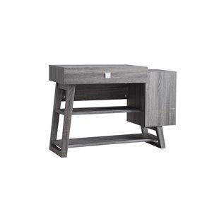 Brassex 2-Tier Console Table with Storage in Grey - 44.25-in x 30.5-in