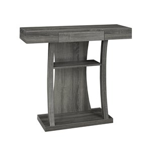 Brassex Contemporary Console Table with Storage in Grey - 34-in x 36-in
