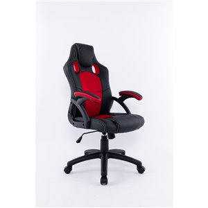 Brassex Ergonomic High-Back Executive Office Chair Black/Red