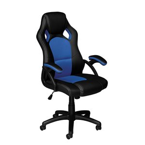 Brassex Ergonomic High-Back Executive Office Chair Black/Blue