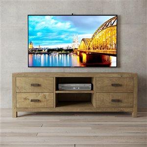 Urban Woodcraft Boca TV Stand - 58-in - Natural Asian Hardwood